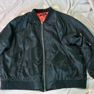 OVERSIZED Black Bomber Jacket
